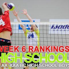 Week 6 Rankings. Pacific Academy rises up.